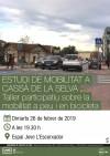 Rètol Taller Participatiu Estudi Mobilitat a Cassà Rètol