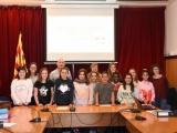 Alumnes de 5è i 6è de primaria del Consell d'Infants Municipal es reuneixen amb l'Alcalde de Cassà