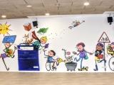Nou mural a l'Auditori del Centre Cultural Sala Galà en motiu del Dia Internacional de les Ciutats Educadores