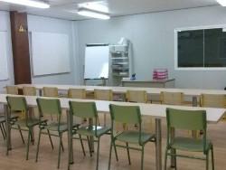 L'aula on s'imparteixen les classes als alumnes del programa Crec