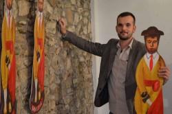 Norman Sánchez a la seva exposició